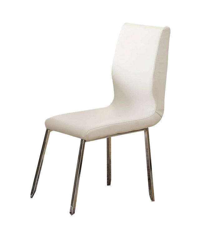 Kilee Side Chair - White Vinyl/Chrome