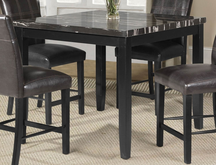 Blythe Counter Height Table - Faux Marble/Black