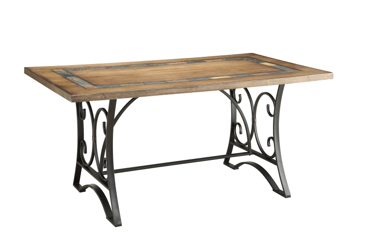 Kiele Dining Table - Oak/Antique Black