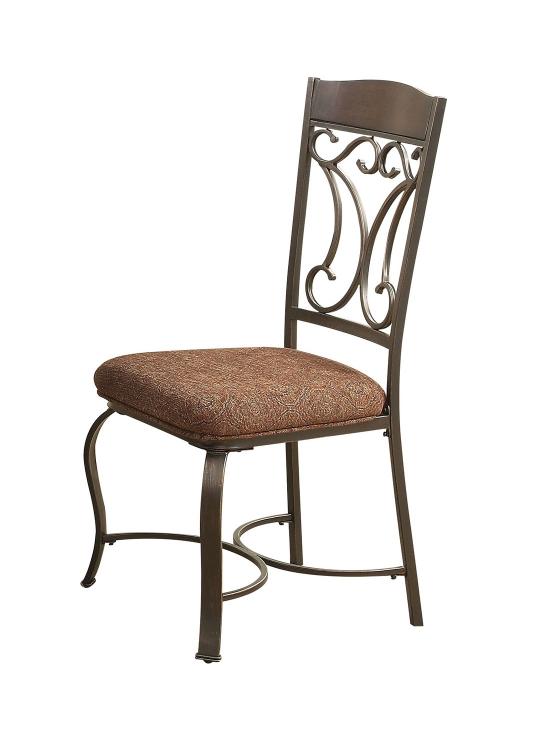 Jaimey Side Chair - Fabric/Antique Black