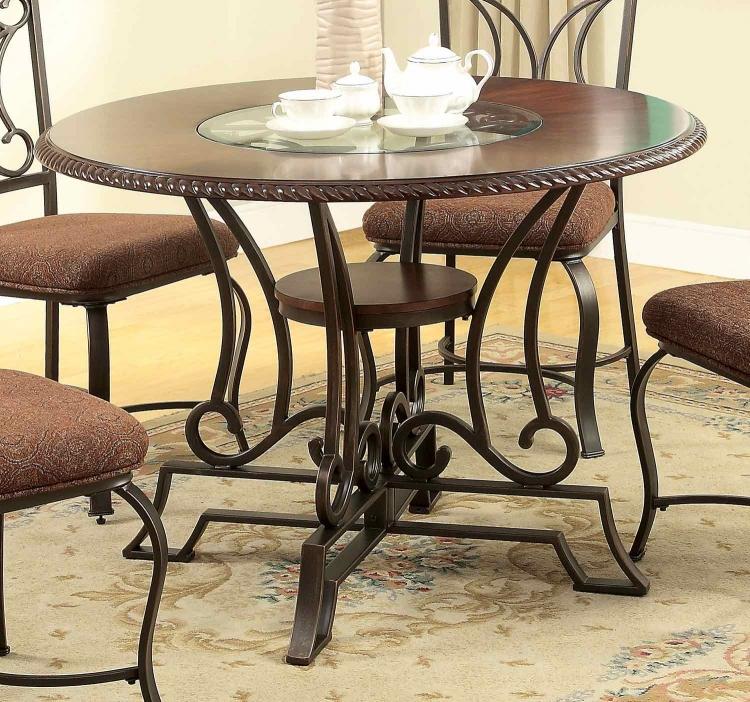 Jaimey Dining Table - Oak/Antique Black