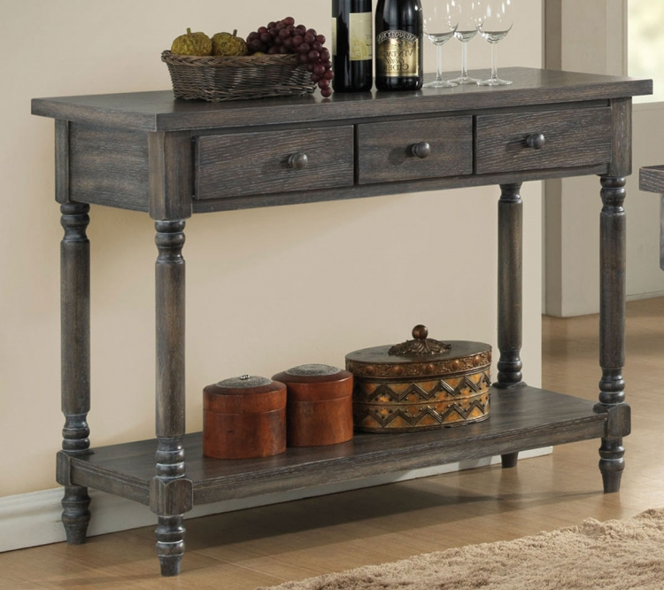 Wallace Server - Weathered Gray