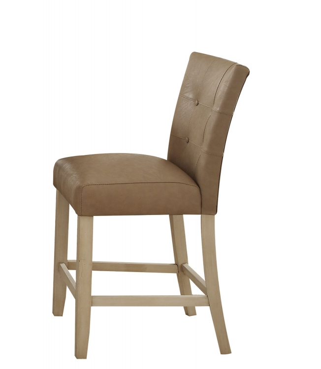 Faymoor Counter Height Chair - Cream Vinyl/Antique White