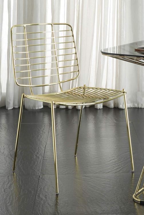 Rianne Side Chair - Gold