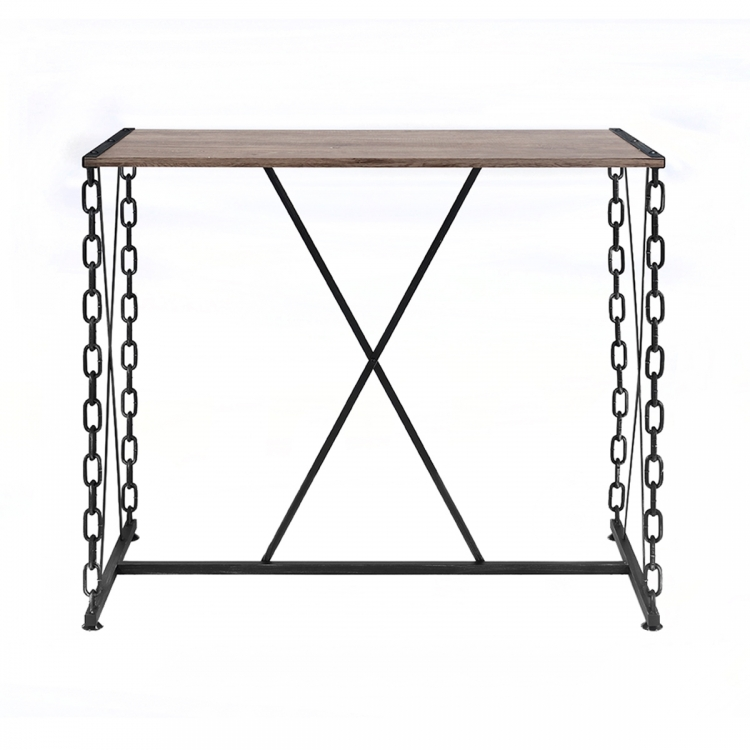 Jodie Bar Table - Rustic Oak/Antique Black
