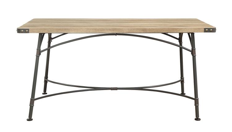 Itzel Dining Table - Antique Oak/Sandy Gray