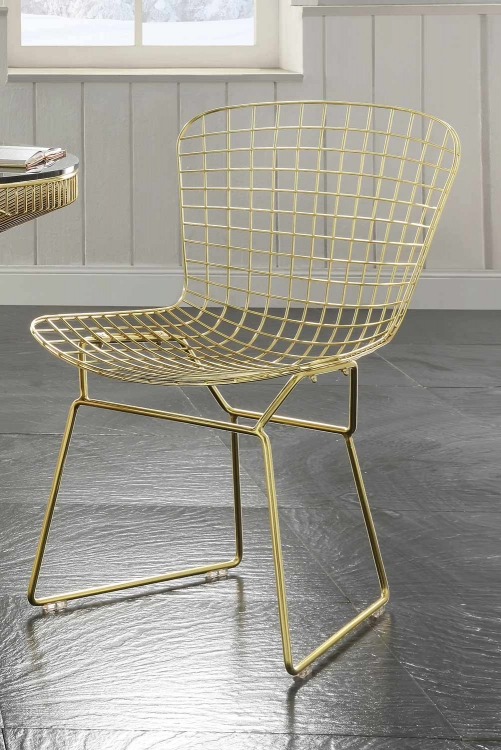 Rasia (Rianne) Side Chair - Gold