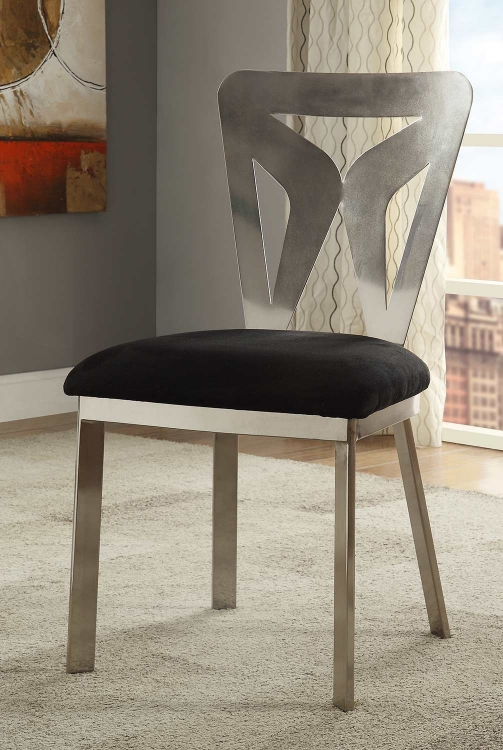 Widforss Side Chair - Black Mfb/Antique Silver Plated