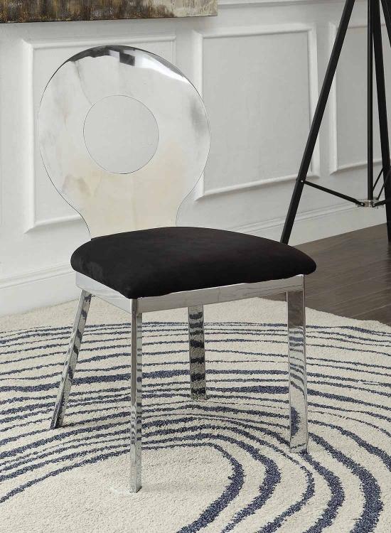 Hagelin Side Chair - Black Mfb/Chrome