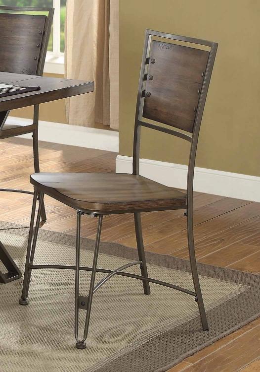 Jodoc Side Chair - Walnut/Gunmetal