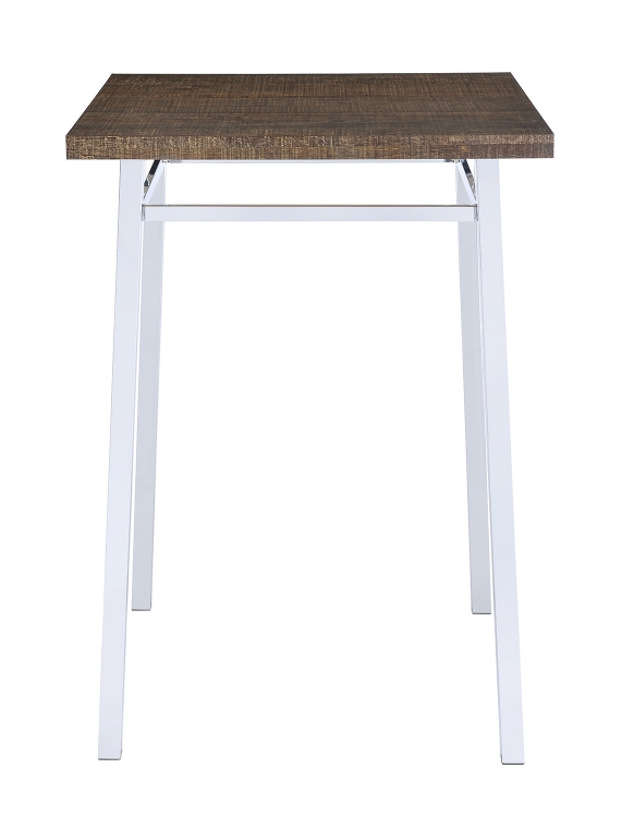 Nadie Bar Table - Oak/Chrome