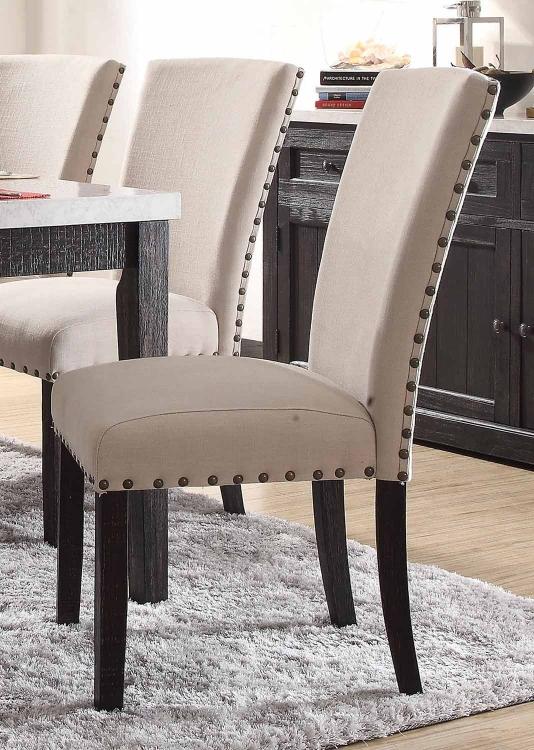 Nolan Side Chair - Linen/Salvage Dark Oak