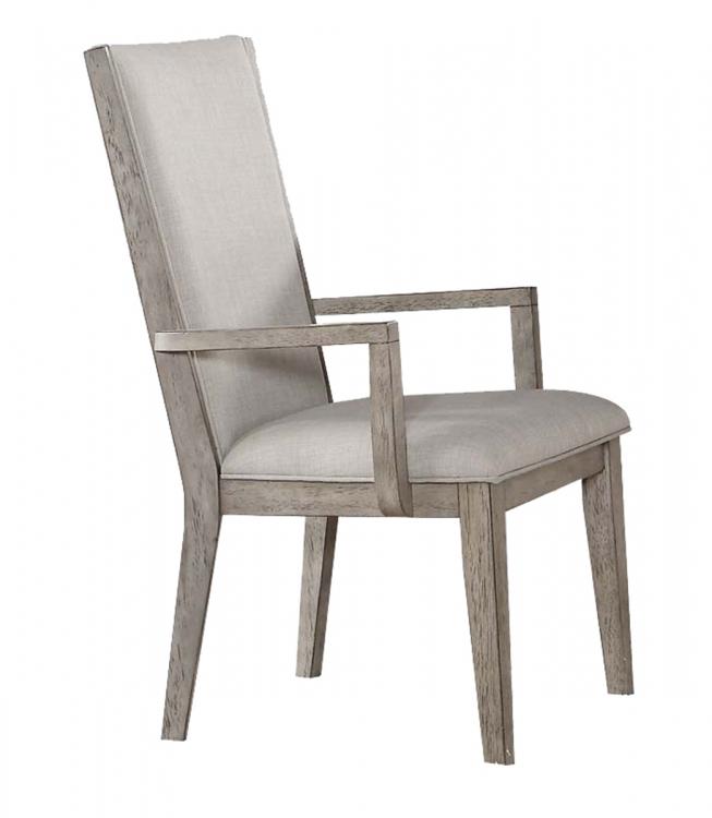 Rocky Arm Chair - Fabric/Gray Oak