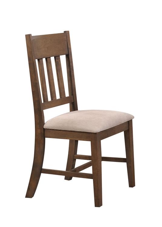 Ulysses Side Chair - Cream Fabric/Weathered Oak