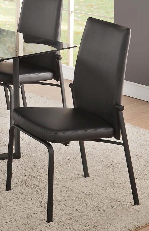 Osias Side Chair - Black Vinyl/Black