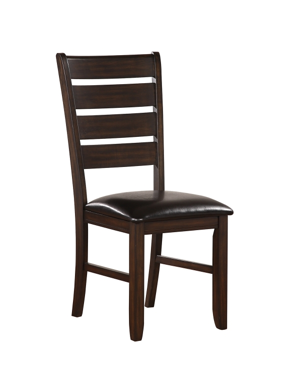Urbana Side Chair - Black Vinyl/Espresso