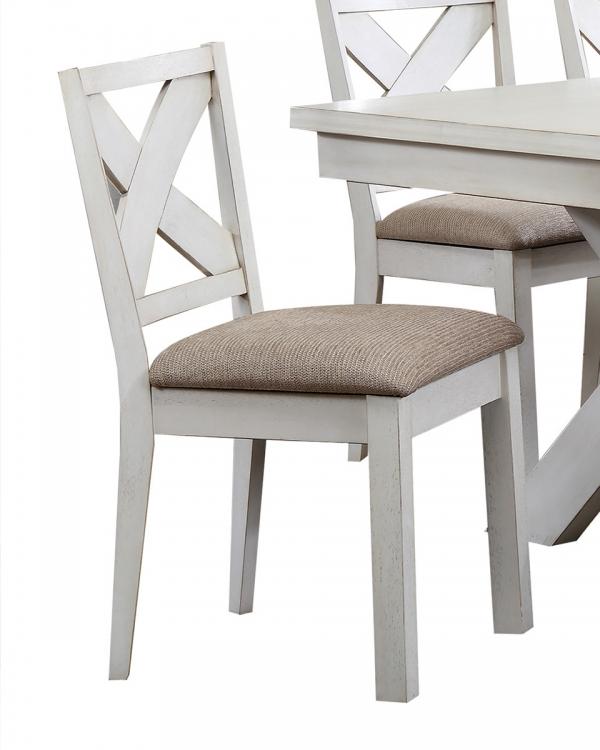 Apollo Side Chair - Fabric/Antique White