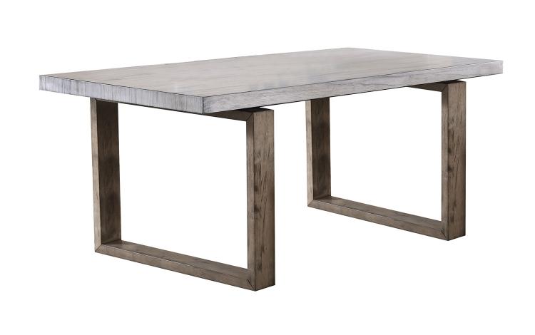 Paulina Dining Table - Light Gray/Rustic Oak