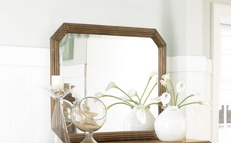 Grand Isle Landscape Mirror - Amber