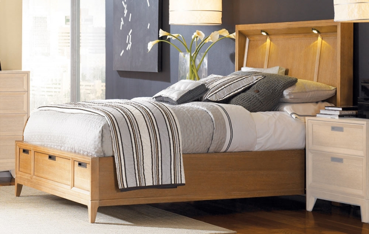Sedona Lighted Storage Bed