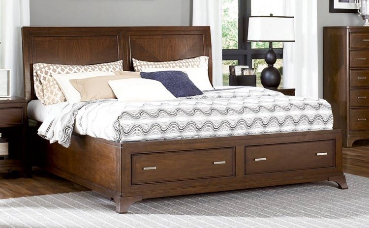 Essex Low Profile Sleigh Bed With Storage Footboard