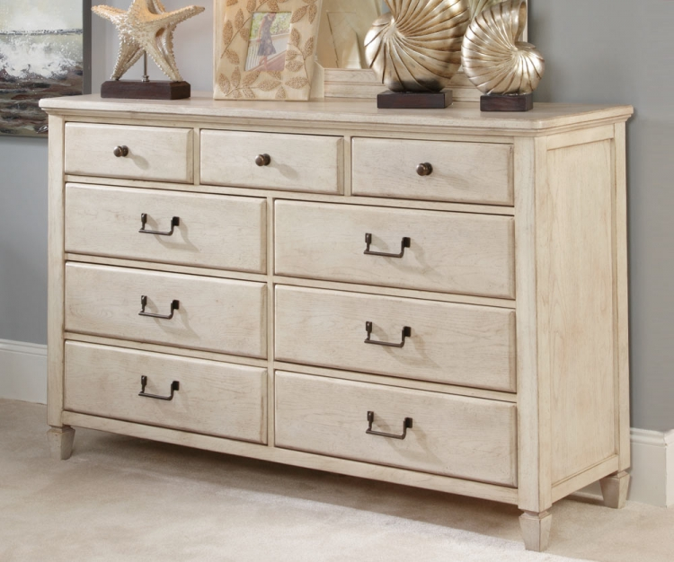 Americana Home Drawer Dresser - White