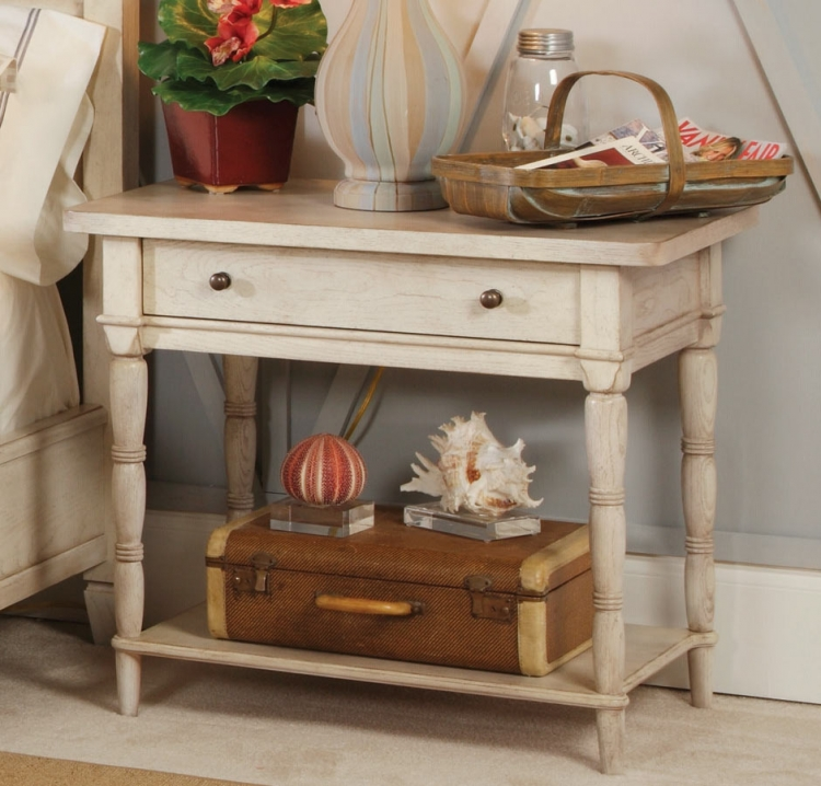 Americana Home Leg Nightstand - White
