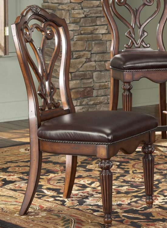 Barrington House Dining Side Chair With Leather Seat - American Drew