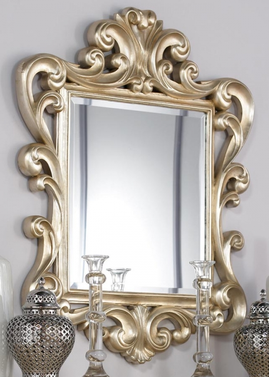 Jessica McClintock Couture Silver Leaf Accent Mirror B
