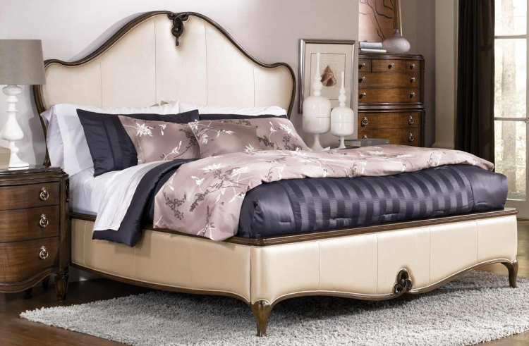 Jessica McClintock Couture Leather Low Profile Bed
