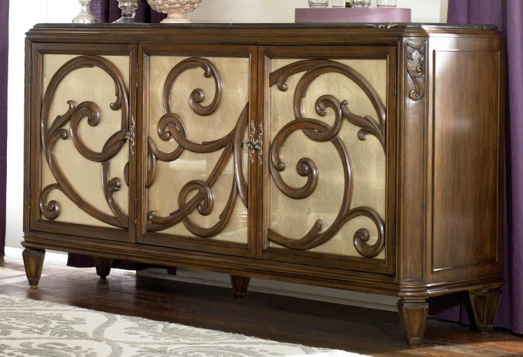 Jessica McClintock Couture Server Buffet with Stone Top