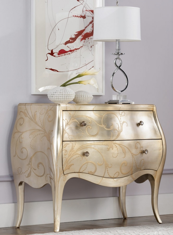 Jessica McClintock Couture Silver Leaf Chest