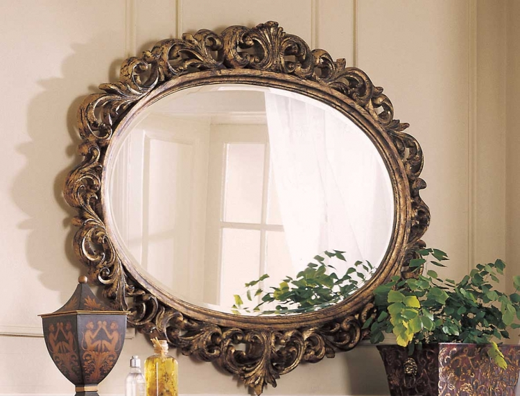Grand Revival Dark Decorative Mirror