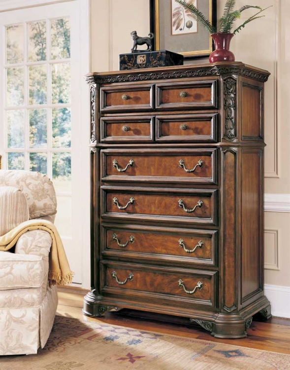 Grand Revival Dark Drawer Chest