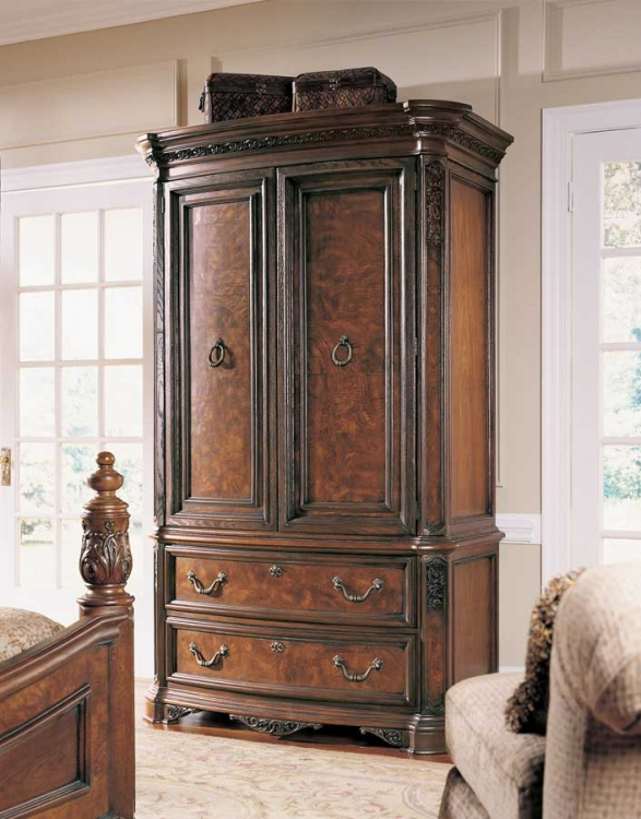 Grand Revival Dark Armoire