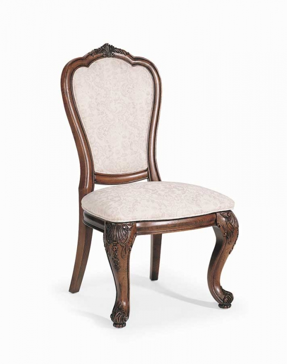 Grand Revival Dark Upholstered Back Side Chair