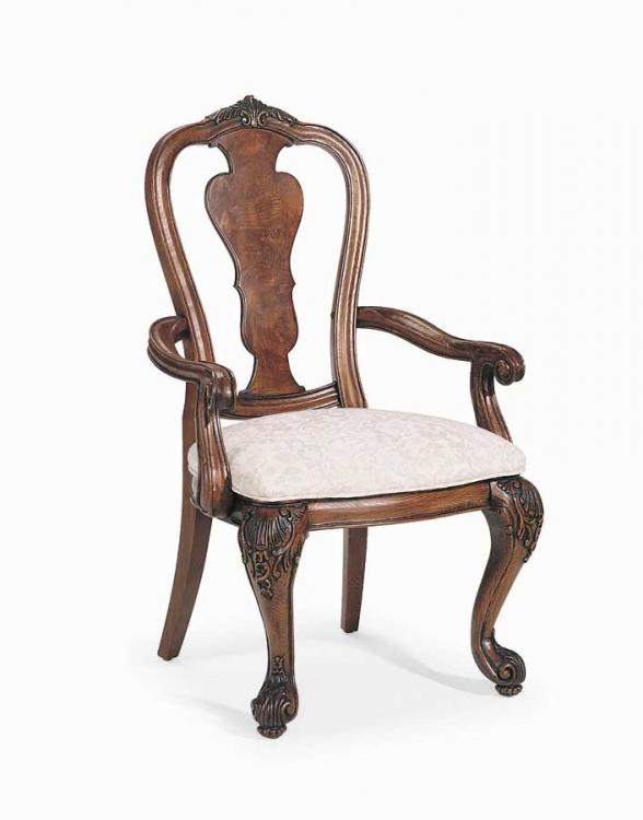 Grand Revival Dark Splat Back Arm Chair