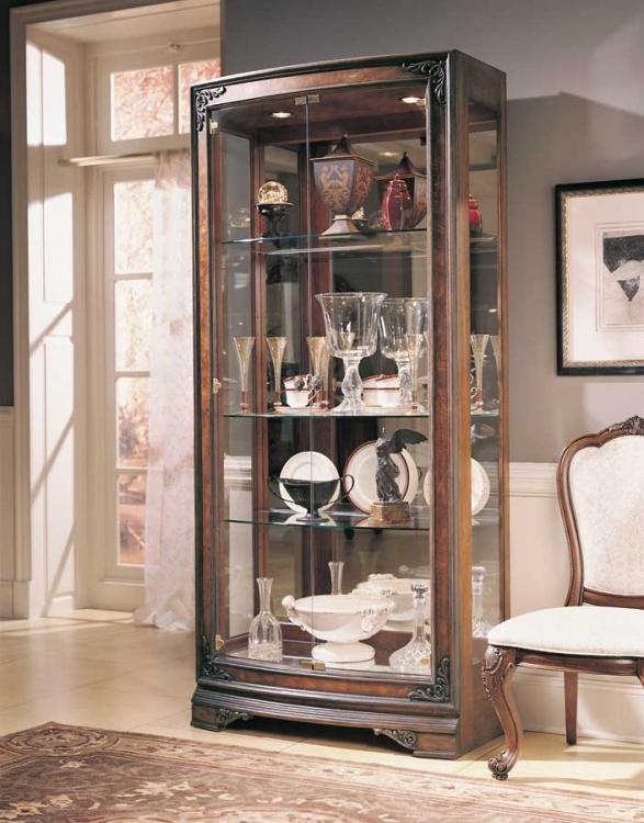 Grand Revival Dark Convex Display Cabinet