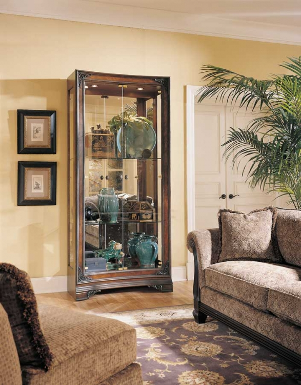American Drew Grand Revival Dark Concave Display Cabinet