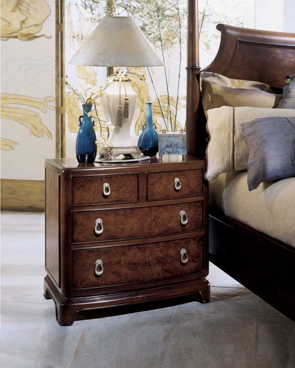 Tansu Night Stand with Wood Top