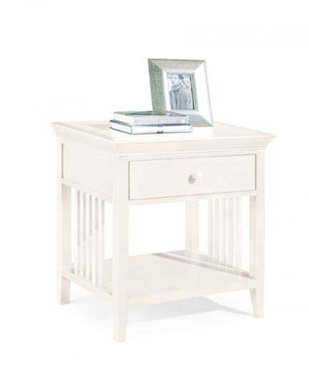 Sterling Pointe Drawer Night Stand White