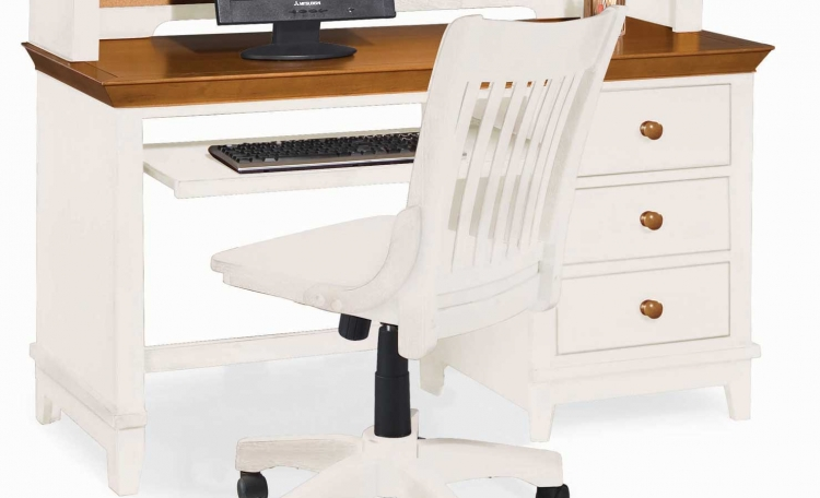 Sterling Pointe Computer Desk White Maple