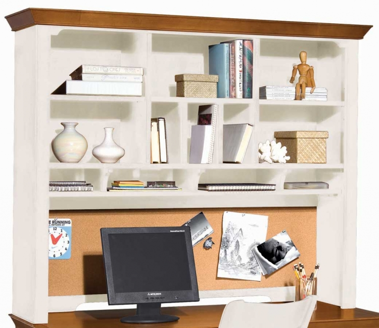 American Drew Sterling Pointe Desk Hutch White Maple