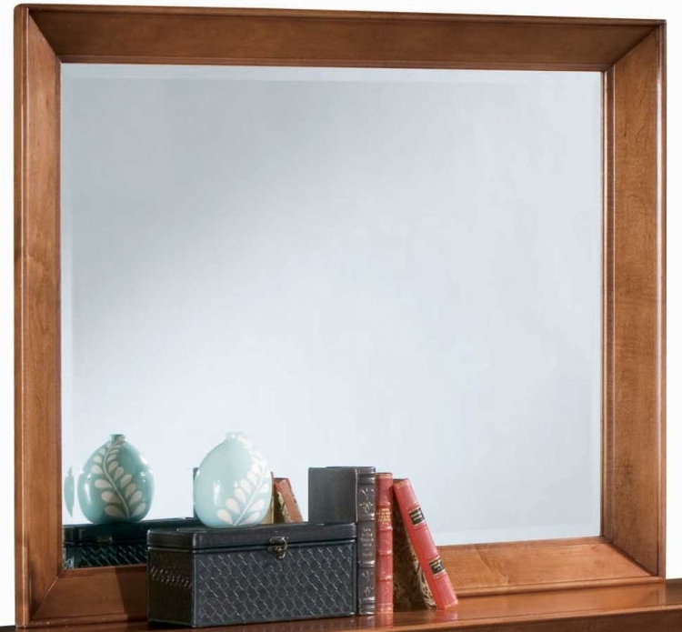 Sterling Pointe Landscape Mirror Cherry