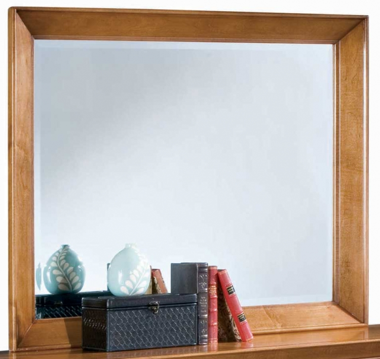 Sterling Pointe Landscape Mirror Maple