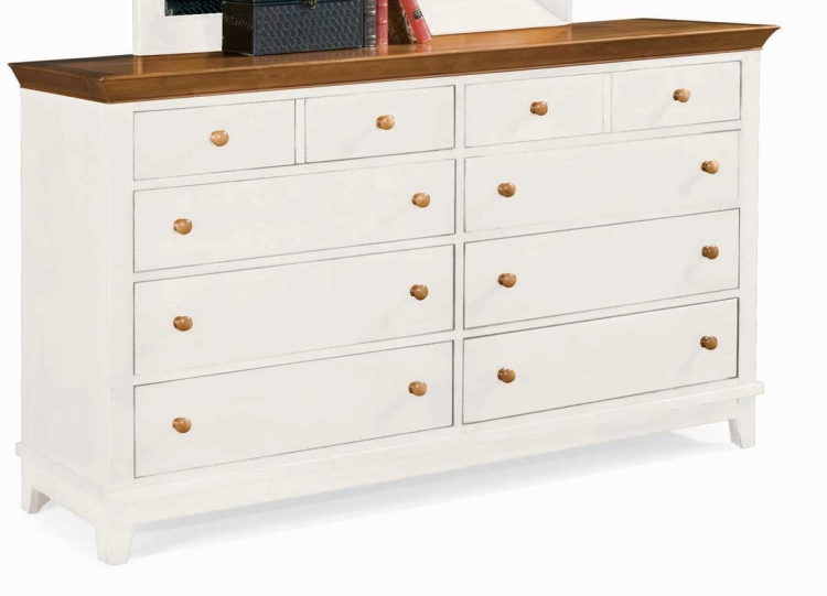 Sterling Pointe Triple Dresser White Maple