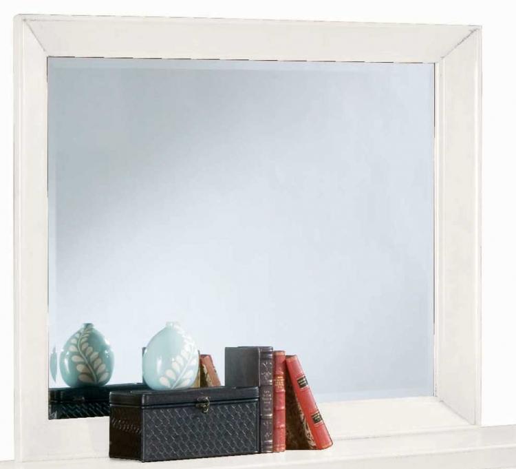 Sterling Pointe Landscape Mirror White