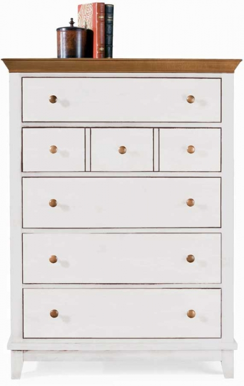 Sterling Pointe Drawer Chest White Maple