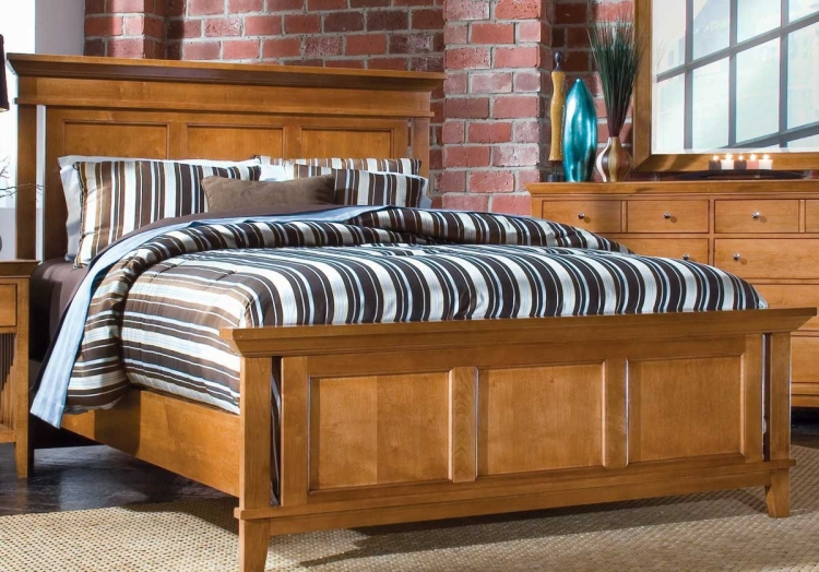 Sterling Pointe Panel Bed Maple