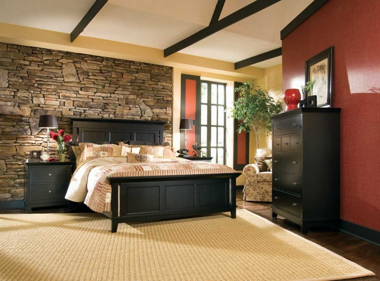Sterling Pointe Panel Bed Black